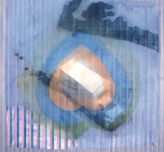 Photo: ISLE OF UHAUL     2001 92 X 76 in oil, holographic pigment and mirror on canvas