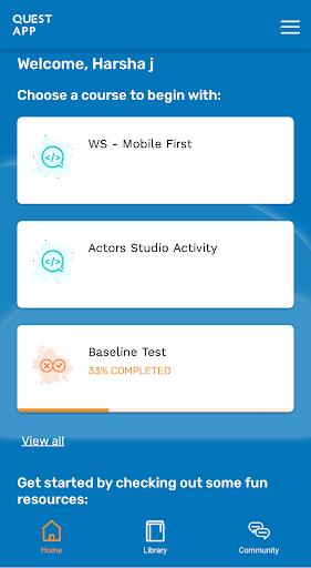 Quest App screenshot 1