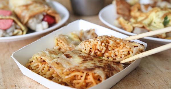 薯霸早餐|新竹市東區|雙倍飽足感,一份鐵板麵蛋餅就能滿意