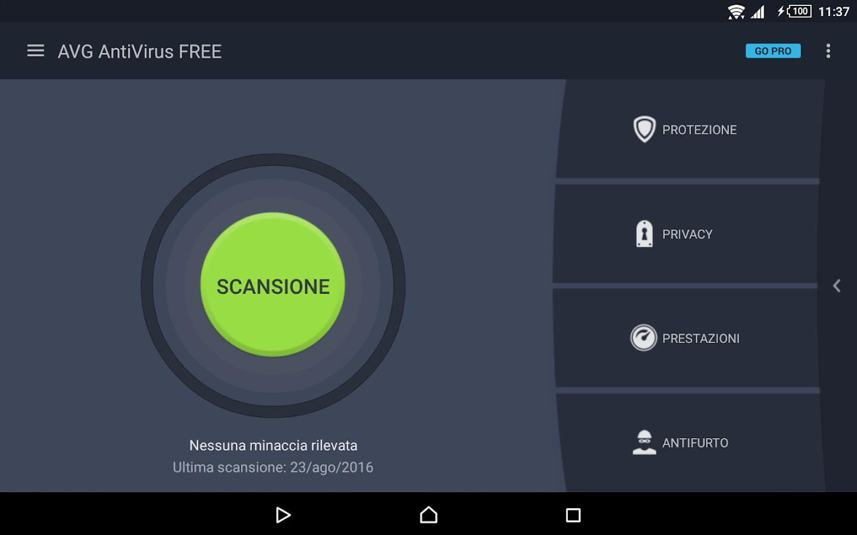 Antivirus gratis per tablet app android su google play for App tablet android gratis