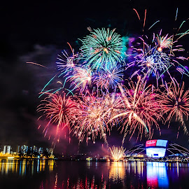 Independence Day Fireworks by Valliappan Chellappan - Abstract Fire & Fireworks ( history, fireworks, celebration, moments, singapore )
