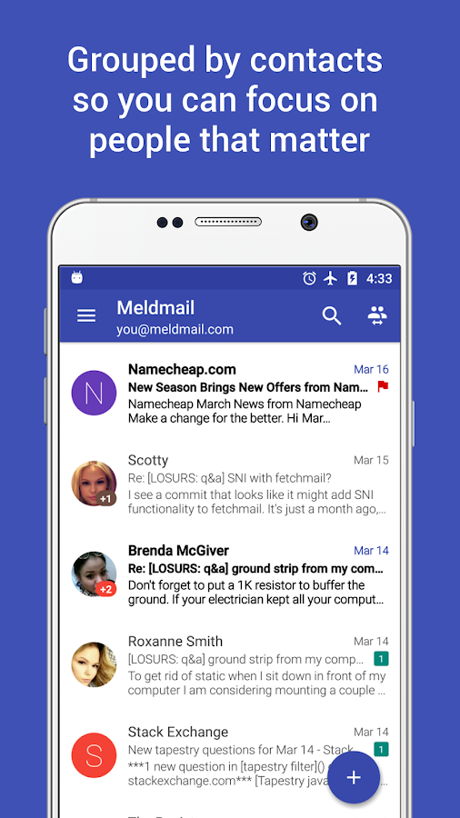Meldmail Email Messenger- screenshot