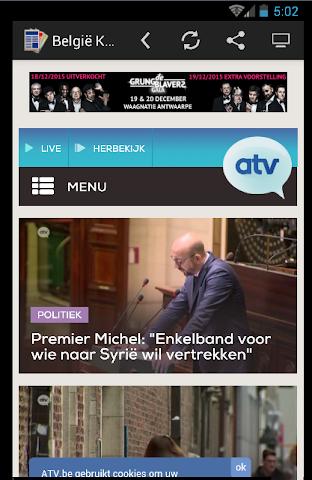 android actualités belgique - Press Screenshot 3