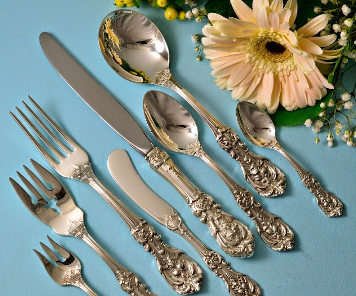 Photo: http://www.RareSterling.com RareSterling.com - Reed and Barton Sterling Silver Flatware -- Francis I Pattern