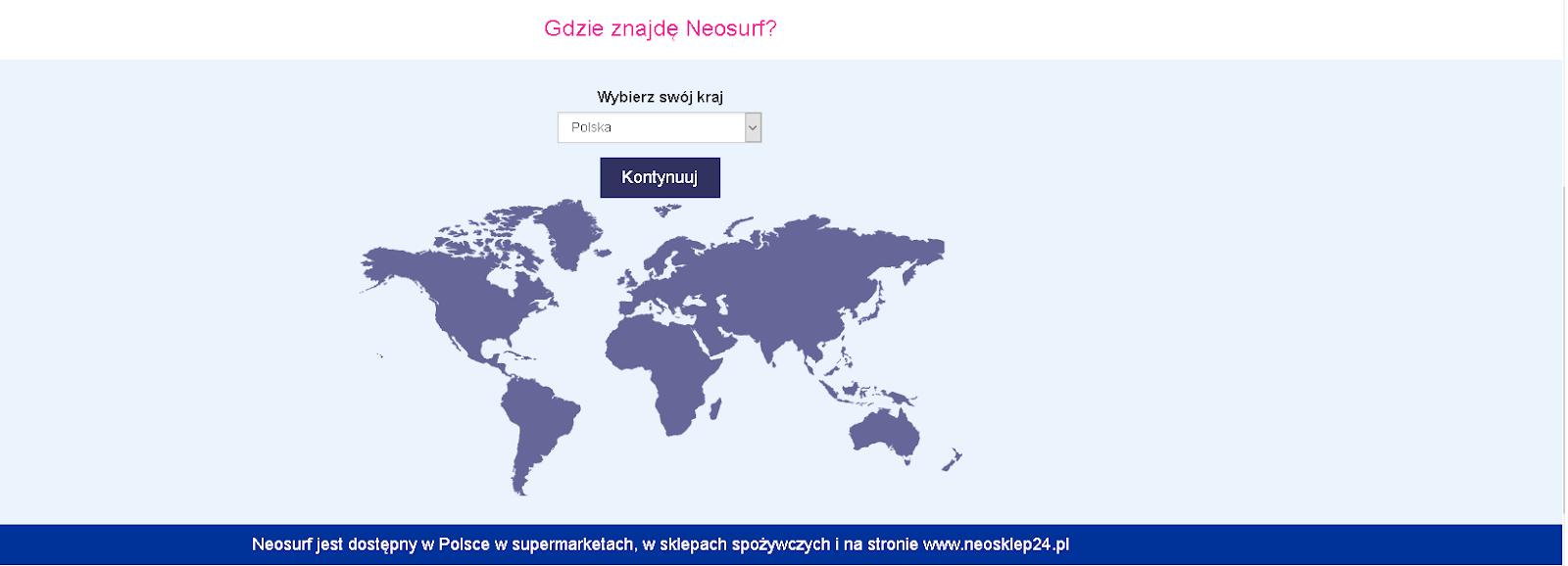 Wchodzimy na stronę Neosurf