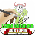 Learn Coloring Zootopia icon