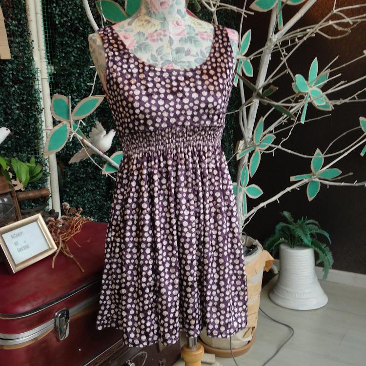 Velvet Apple Dress in Purple