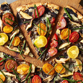 Roasted Tomato & Chive Pizza.