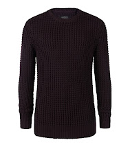 Photo: Rok Crew Jumper>>  UK>http://bit.ly/P0mA46 US>http://bit.ly/RVd9X9  A chunky knit in a natural cotton yarn. The Rok Crew Jumper is knitted in an open textured waffle stitch to accent the garment and is finished with ribbed cuffs, hem and collar.