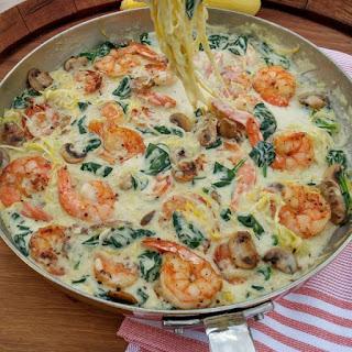 Creamy Shrimp & Zoodles
