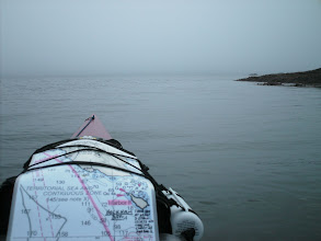 Photo: July 14 - Heading across Holkham Bay on a foggy morning.