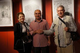 Photo: Pencil Sketch exhibit by Shehab Kawasami at Yabous Gallery, East Jerusalem