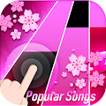 Flower Pink Piano Tiles - Magic Butterfly Tiles APK