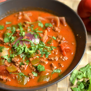 Easy Slow Cooker Taco Soup.