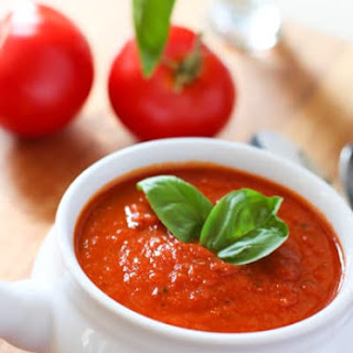 Skinny Tomato and Roasted Red Pepper Soup! Recipe