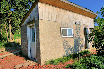 Photo: This building is the cookhouse and shower.