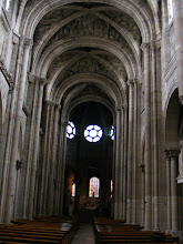 Photo: The Gothic aspect of the Church is revealed in the nave.