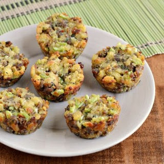 Sausage & Celery Mini Stuffing Cups