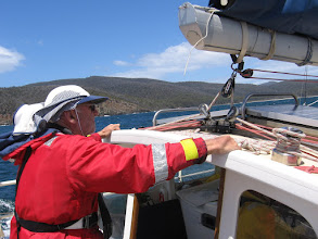 Photo: David steering into Fortescue