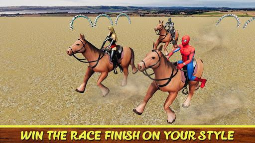 Diligent SuperHeroes Horse Riding 3d  screenshots 4
