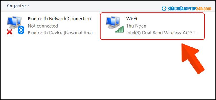 Sau khi chọn mục Wifi, thực hiện lần lượt như cách trên