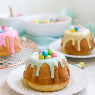 Surprise Inside Mini Easter Bundt Cakes.