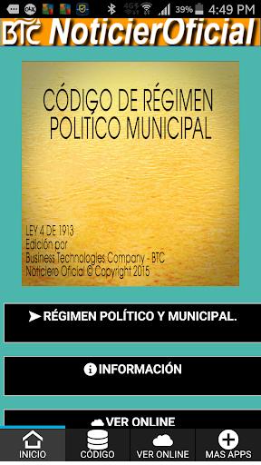 Régimen Político Municipal