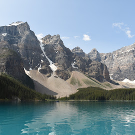 Mountains by Griffin Li - Landscapes Mountains & Hills ( mountain, mountains, lake, water, landscape )