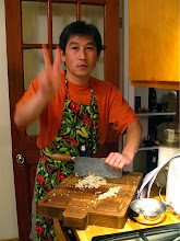 Photo: Hiro chopping