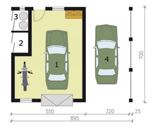 G176 - Rzut garażu