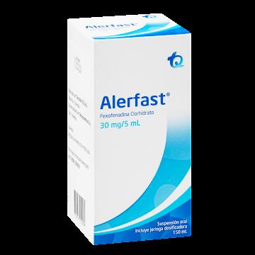 Alerfast 30Mg/   Suspensión Frasco X150Ml. Tq Fexofenadina Clorhidrato