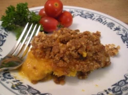 "Crunchy-Topped Pumpkin Casserole ""This is absolutely wondermous!!!!! I doubled your recipe and..."