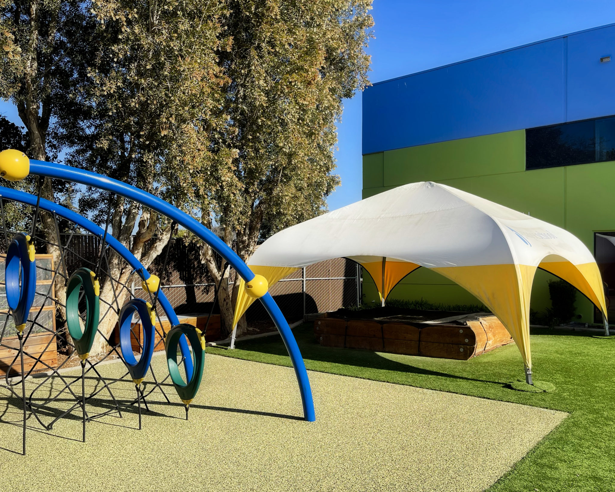 A WeatherPort playground shelter at Synapse School