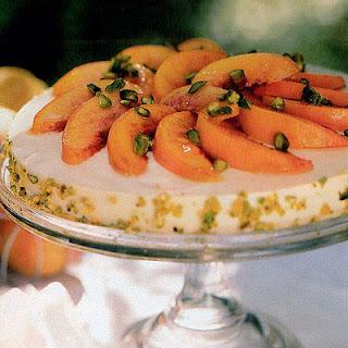 No-Bake Peaches and Cream Cheesecake