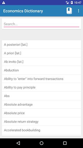 Screenshot 1 Economics Dictionary