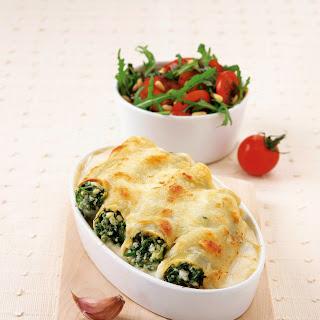 Cannelloni mit Bärlauch und Schafskäse