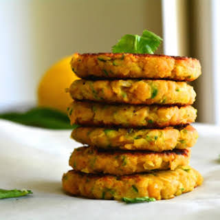 Zucchini Chickpea Fritters [Vegan, Gluten-Free].