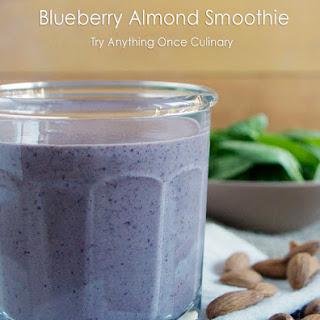 Blueberry Almond Smoothie.