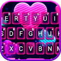 Neon Candy Hearts Keyboard Theme icon