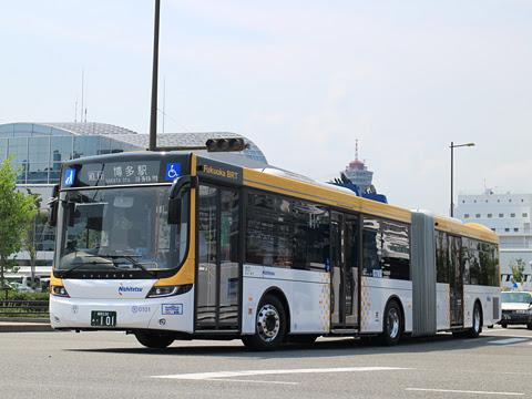 西日本鉄道 福岡都心連節バス 0101 博多港国際ターミナルにて その1