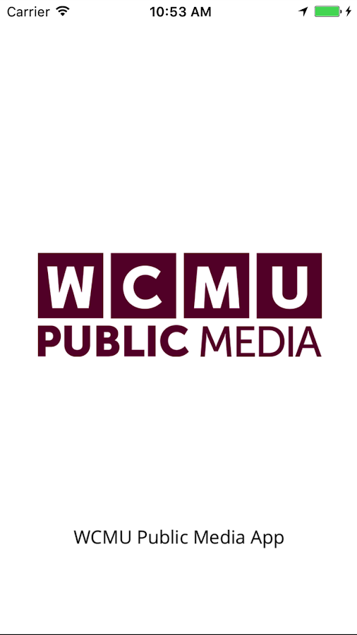 WCMU Public Media App- screenshot