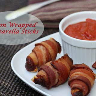 Bacon Wrapped Mozzarella Sticks - Low Carb and Keto