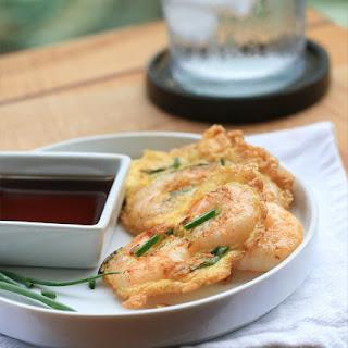 Shrimp and Egg Pancakes