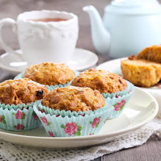 Gluten-Free Apple Carrot Raisin Muffins.