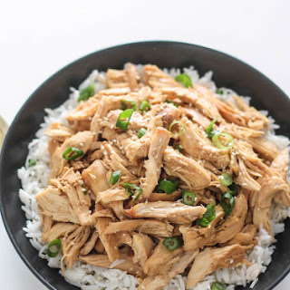 Slow Cooker Korean Pulled Chicken.