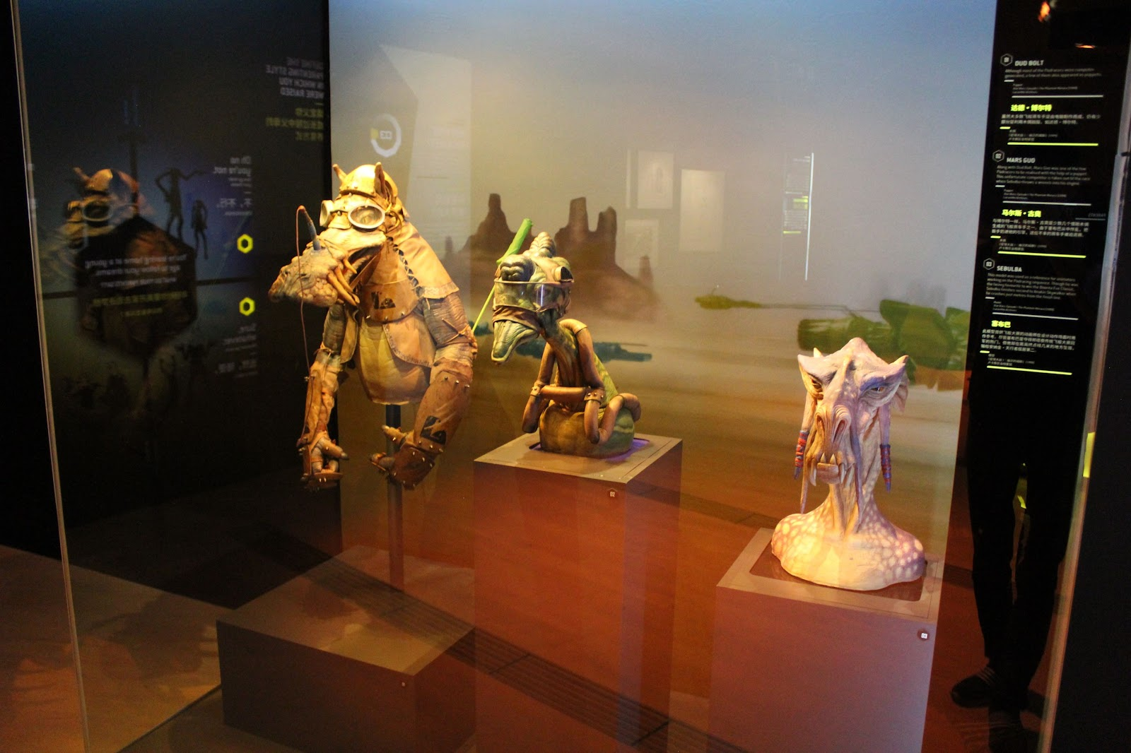 Production models of various aliens from Tatooine