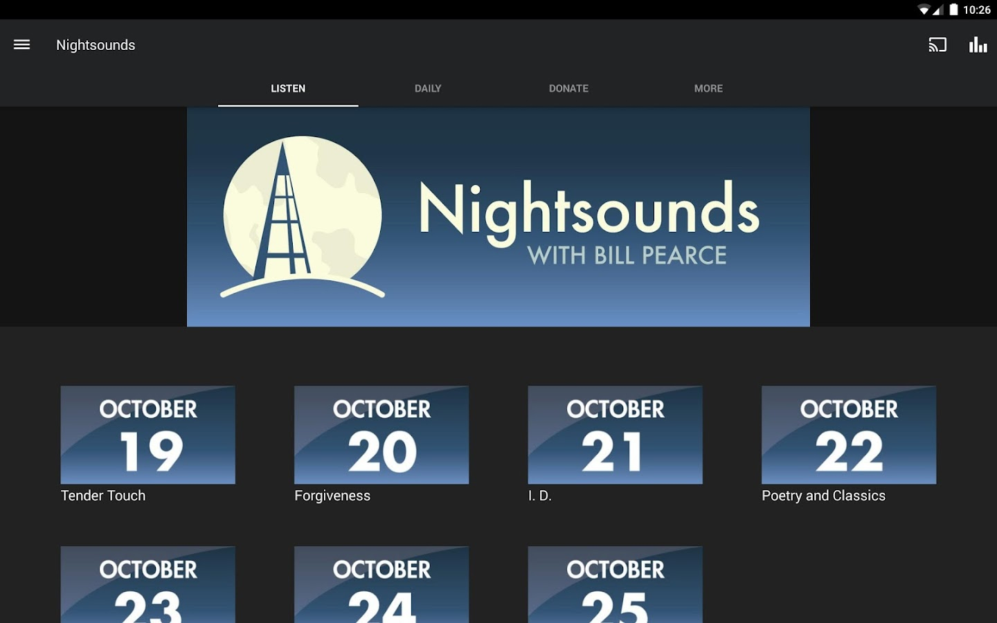 Nightsounds- screenshot