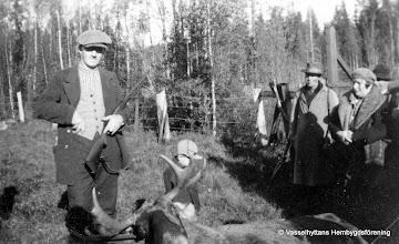 Photo: Västantorp, älgjakt 1930-tal