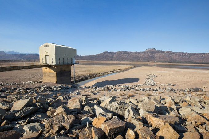 Voelvlei Dam during a severe drought in the Western Cape. Picture: ASHRAF HENDRICKS, GROUNDUP