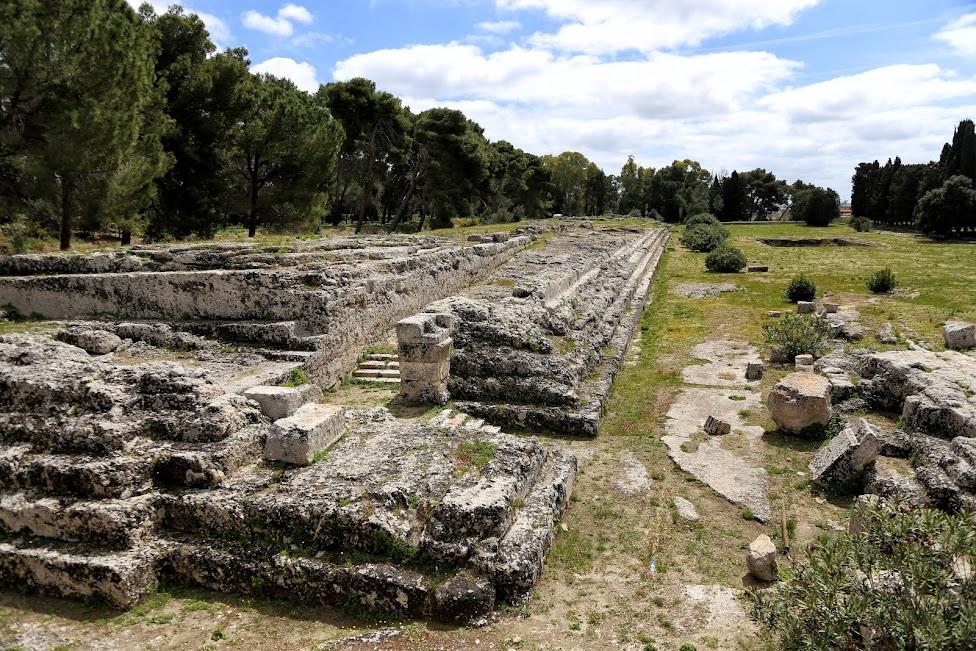 Syrakuzy, Obszar Archeologiczny Neapolis, ołtarza Hierona II